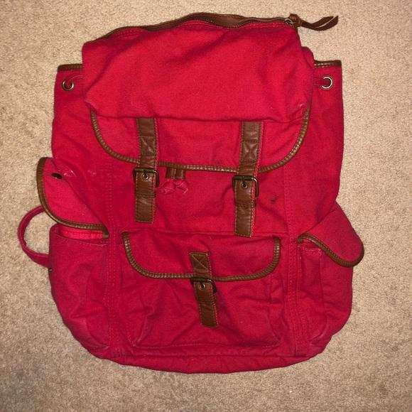 Ecote Handbags - Ecote Red Backpack